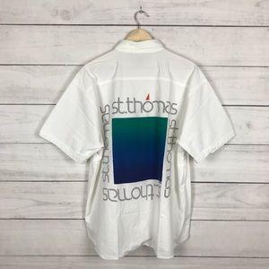 Vintage 1990s St Thomas Art Polo T-Shirt